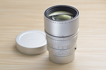 Leica APO-Summicron-M 90mm f/2 ASPH, from Edition Hermes Serie Limitee Jean-Louis Dumas 3-lenses Big Set.