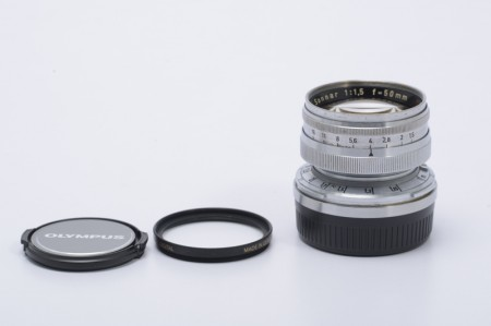 Carl Zeiss Sonnar 50mm f/1.5 with Leica M adapter
